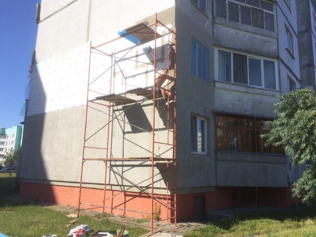 мокрый фасад в Минске